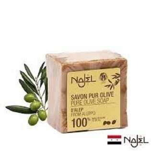 【正宗NAJEL】100%橄欖油阿勒坡皂200g效期2026【淨妍美肌】