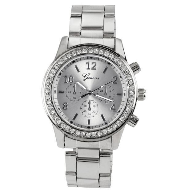 Unisex Stainless Steel Analog Quartz Wrist Watch 3