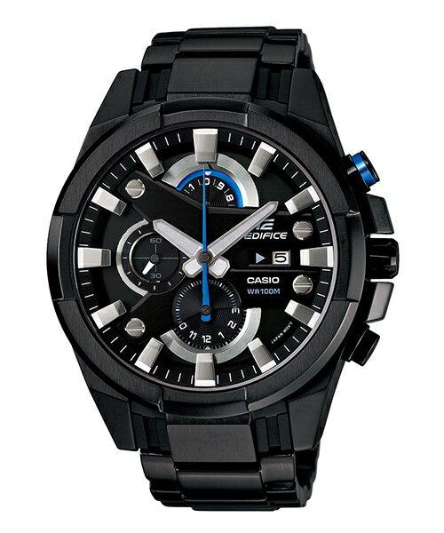 CASIO EDIFICE EFR-540BK-1A 3D賽車時尚流行腕錶/黑面48mm