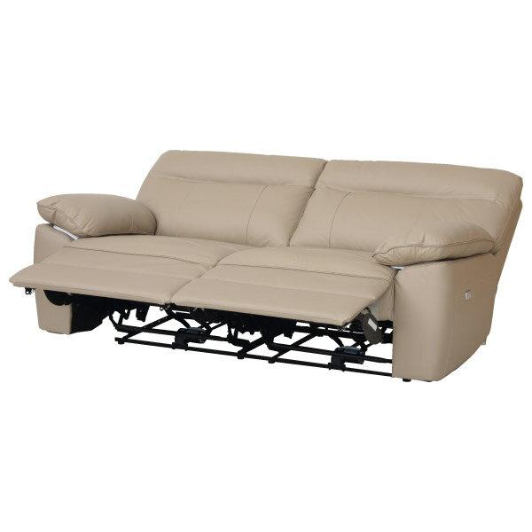 ◎半皮3人用電動可躺式沙發 STONE MO NITORI宜得利家居 2