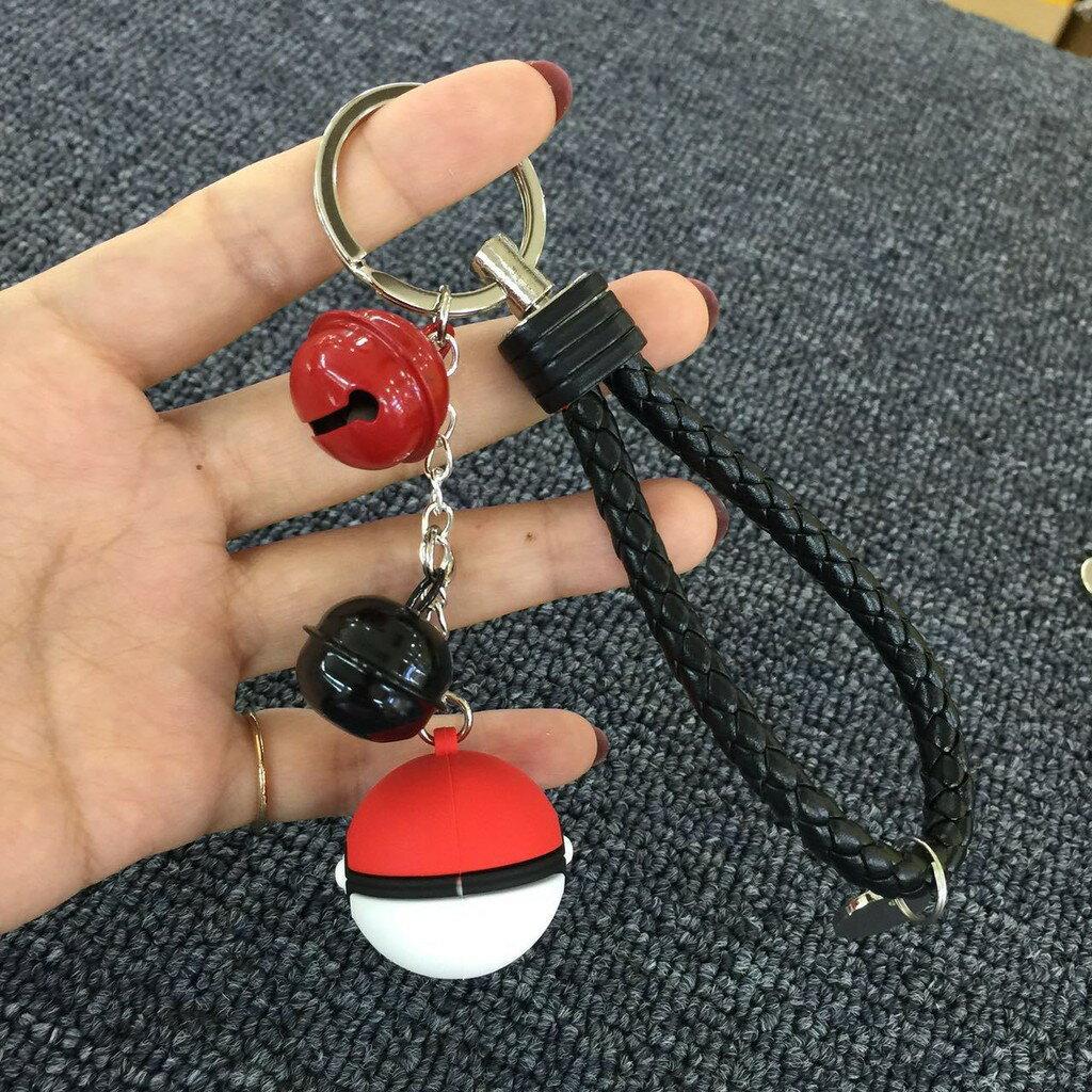 寶可夢吊飾 精靈 寶可夢 鑰匙圈 Pokemon Go 鈴鐺 神奇寶貝 寶貝球 精靈球 吊飾 皮卡丘【AJ109】