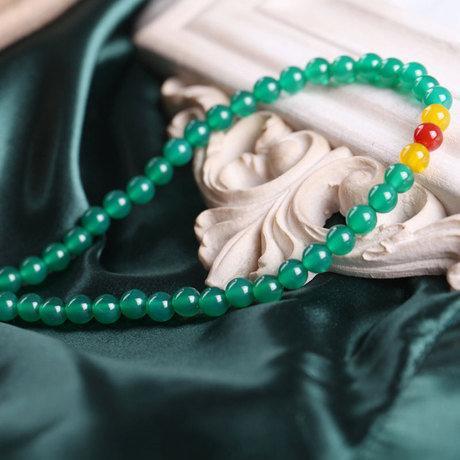 水晶綠瑪瑙飾品 108顆多層纏繞佛珠女款手鏈 首選禮物