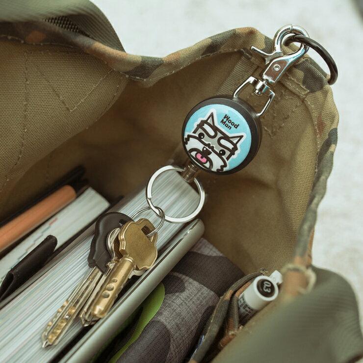 馬卡龍可愛萌動物系列,鋼線伸縮鑰匙圈