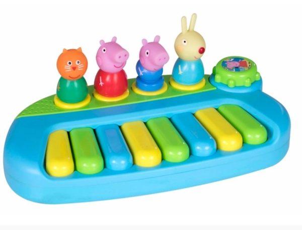 《PeppaPig》粉紅豬小妹公仔鋼琴組