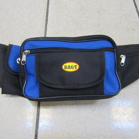 ^~雪黛屋^~BAGS 腰包 隨身貼身腰包 防水尼龍布  休閒工作皆 重要物品  寶藍