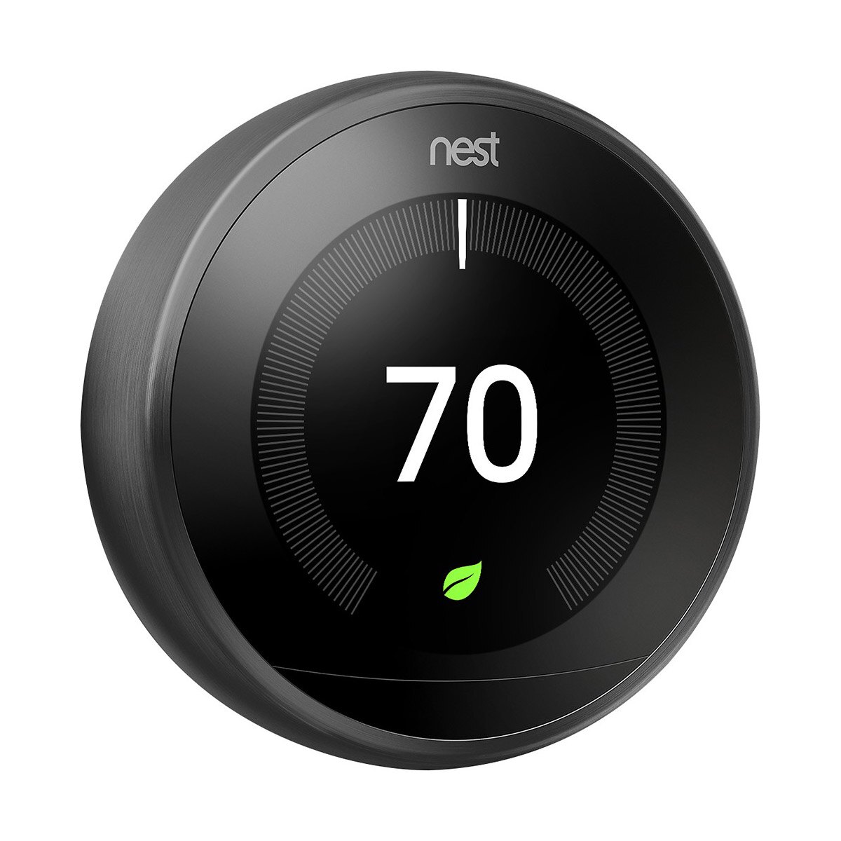Nest 3rd Generation Programmable Wi-Fi Smart Learning Thermostat T3016US - Black 1