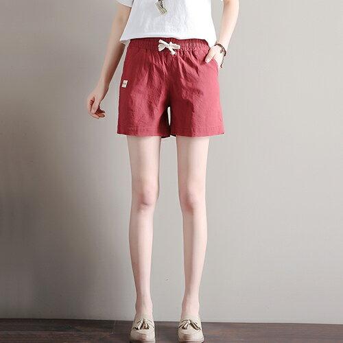 寬鬆緊腰亞麻休閒褲(7色S~3XL)【OREAD】 4