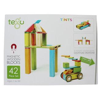 《任意門親子寶庫》美國tegu【TY285】環保無毒磁性積木42件組-調色盤