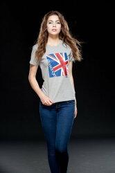 【H.Y SPORT】《SLAZENGER》女-精梳棉彈力花圓領短衫543038(白)/女生透氣短T/台灣製