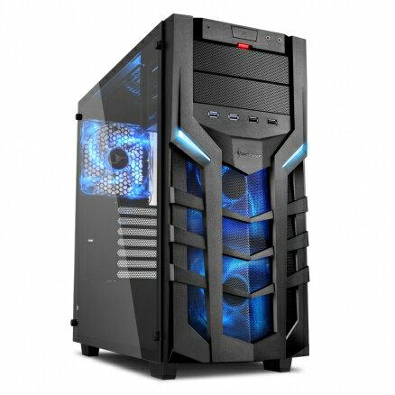 旋剛Sharkoon聖龍者DG7000-Gblue鋼化玻璃版(藍)電腦機殼PC機殼電競機殼【迪特軍】