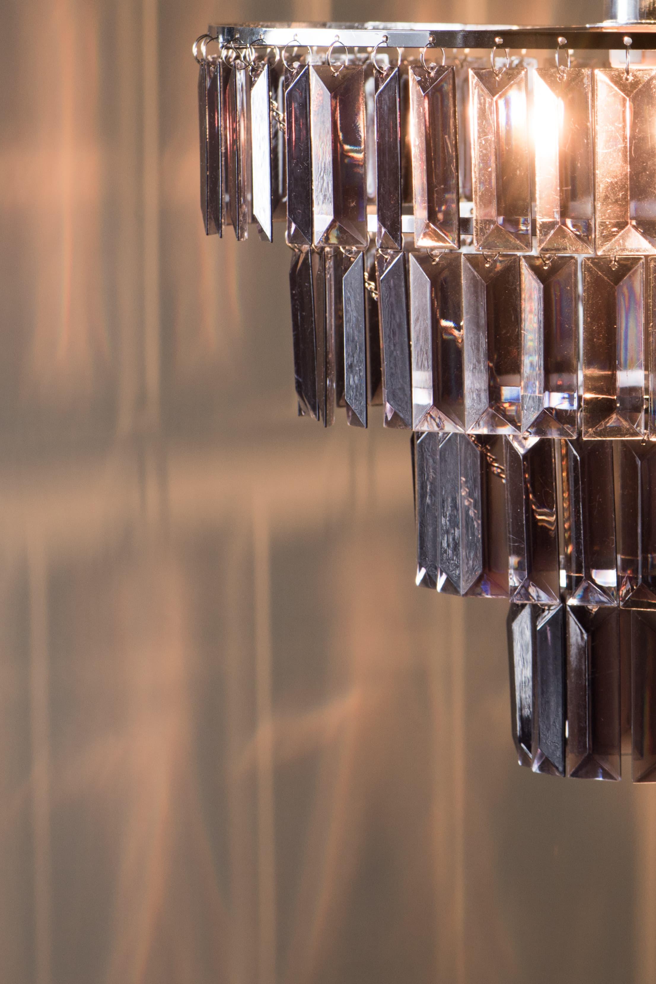 鍍鉻多層次燻黑壓克力板吊燈-BNL00043 4