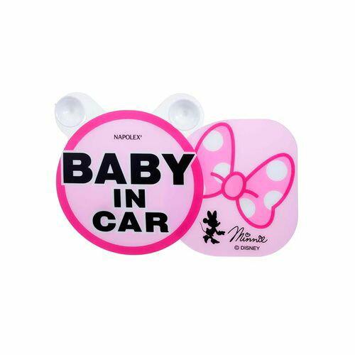 ★衛立兒生活館★【ViVibaby】迪士尼 米妮蝴蝶結 BABY IN CAR 警告牌DBD409