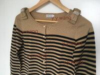 針織外套推薦到日本代購 日本 Anatelier 條紋 羊毛 蝴蝶結 珍珠扣 針織衫 針織外套 薄外套 米色 咖啡色 黑色 日本連線就在SUNYI推薦針織外套