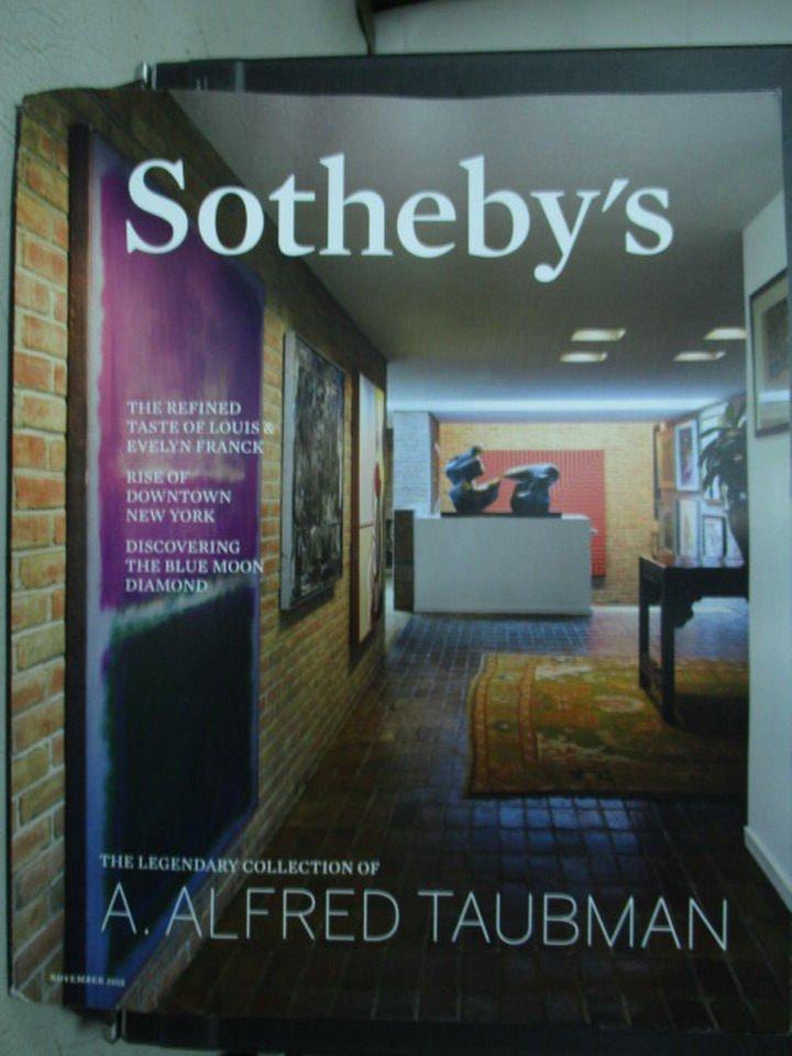 【書寶二手書T3/收藏_QXN】Sothebys_2015/11_A.Alfred Taubman