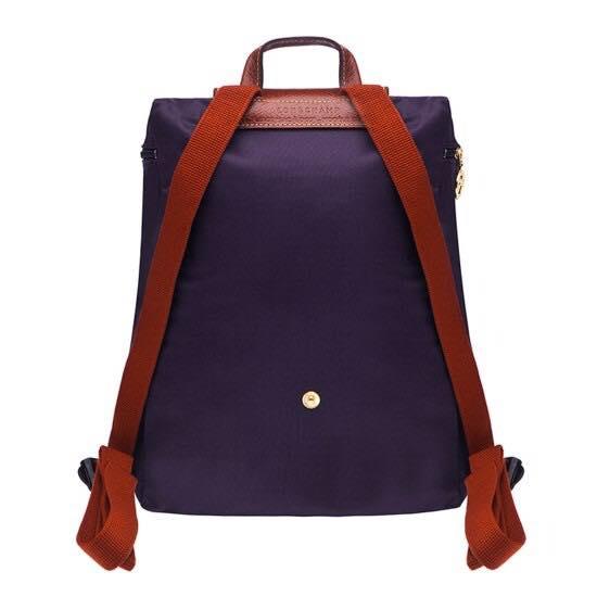 【LONGCHAMP】 LE PLIAGE 深紫折疊後背包 1