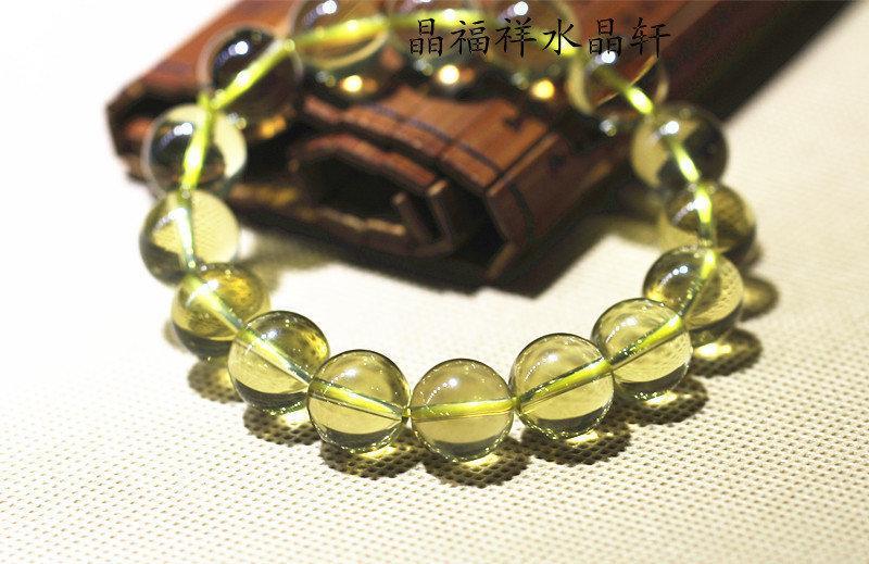 黃水晶手鏈 水晶手鏈 黃水晶男女款手鏈 奢華高貴
