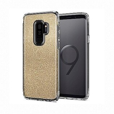 【Spigen】GalaxyS9+SlimArmorCrystal複合式防震保護殼琥珀金粉晶