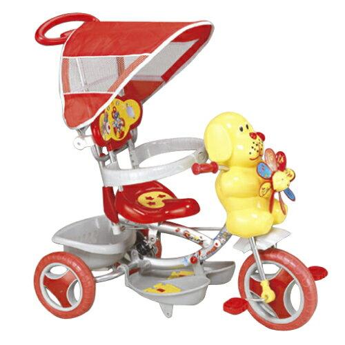 風車狗兒童遊戲腳踏車手推車 紅色/藍色