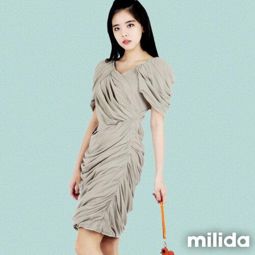 【Milida,全店七折免運】-夏季洋裝-造型款-甜美公主袖設計 5