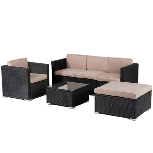 Factory Direct Patio Wicker Furniture Sets 6pc Rattan Sofa