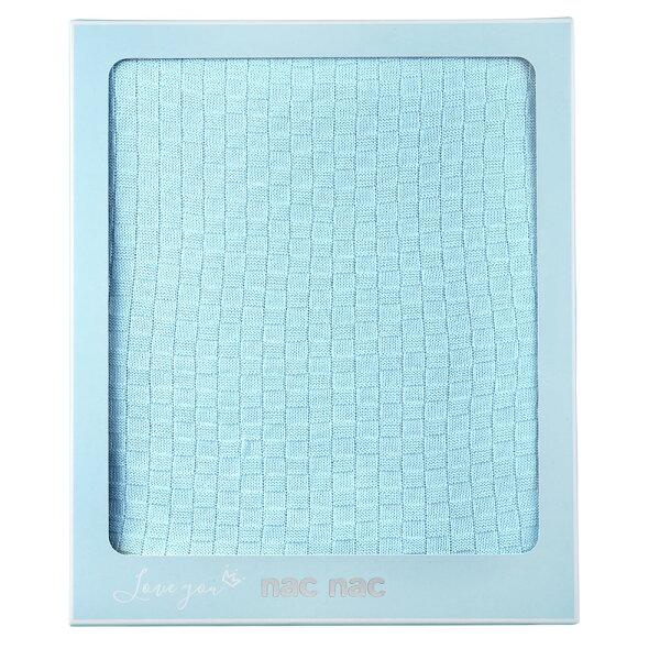 【麗嬰房】nacnac竹纖維針織毯(藍)