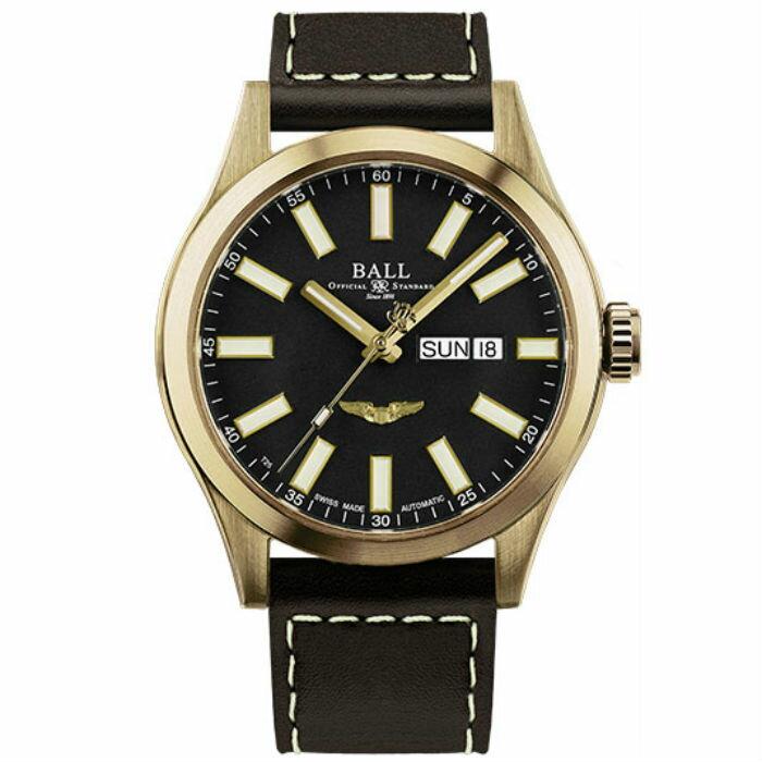 BALL 波爾錶 NM2186C-L4J-BK  Engineer III 系列 Marvelight Bronze Star機械腕錶/黑面 43mm