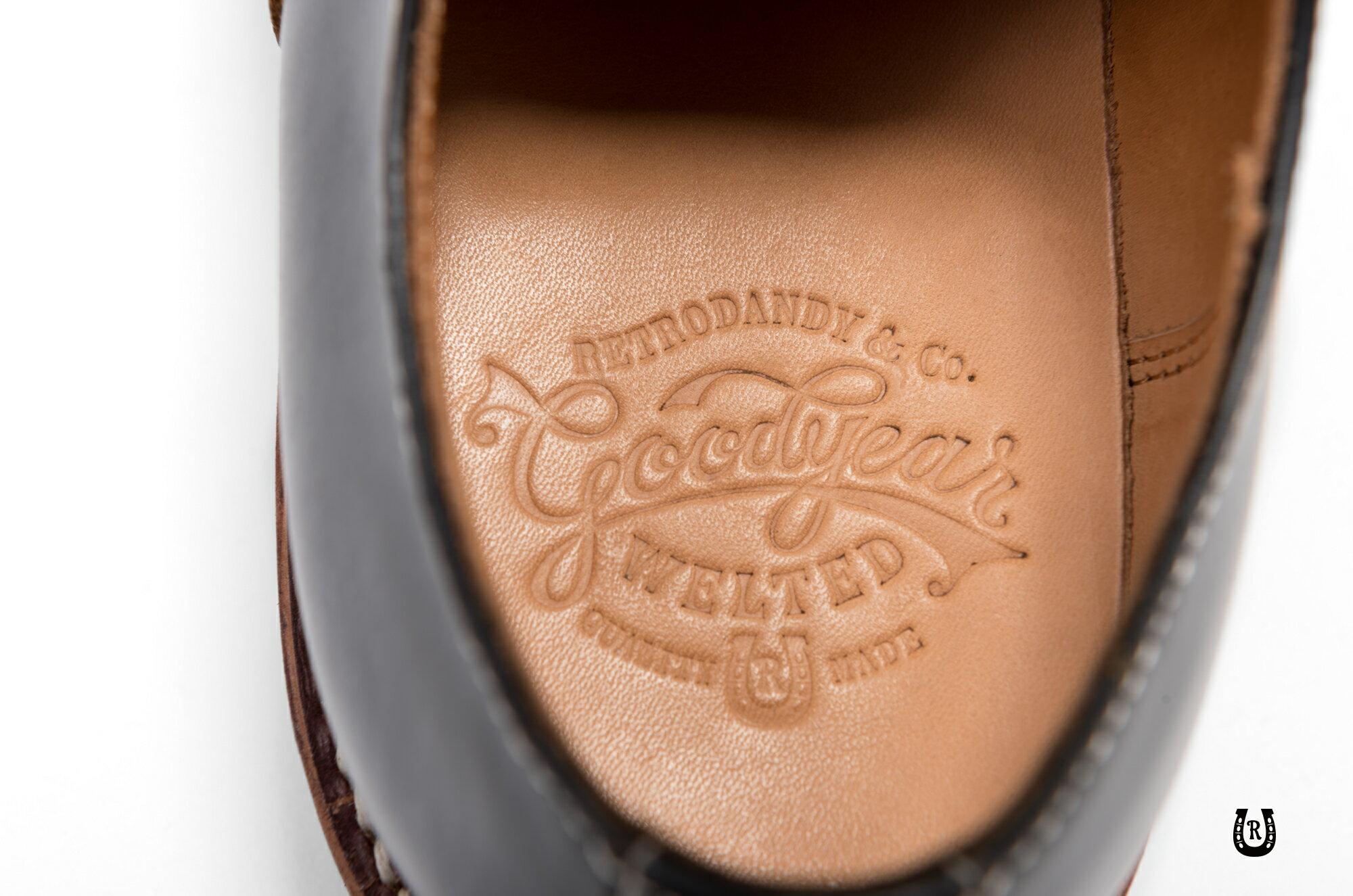 【預購八折】Retrodandy Saddle shoes 經典復古工作皮鞋 日廠Goodyear固特異手工製鞋法 3