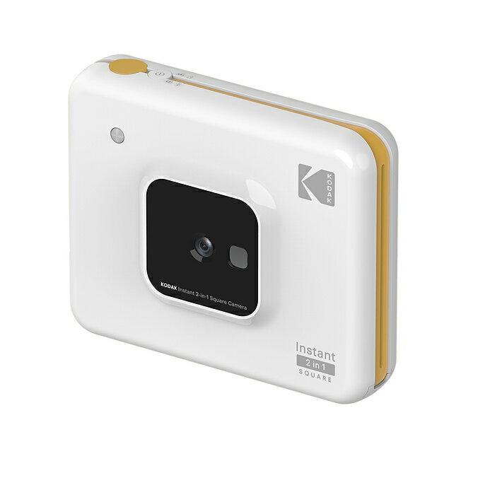 .. 送相紙 KODAK Instant 2 in1 Square Camera C300 3吋即時列印相片相機 2019全新款 拍立得 即可拍 印表機 藍芽 APP 白色 平輸