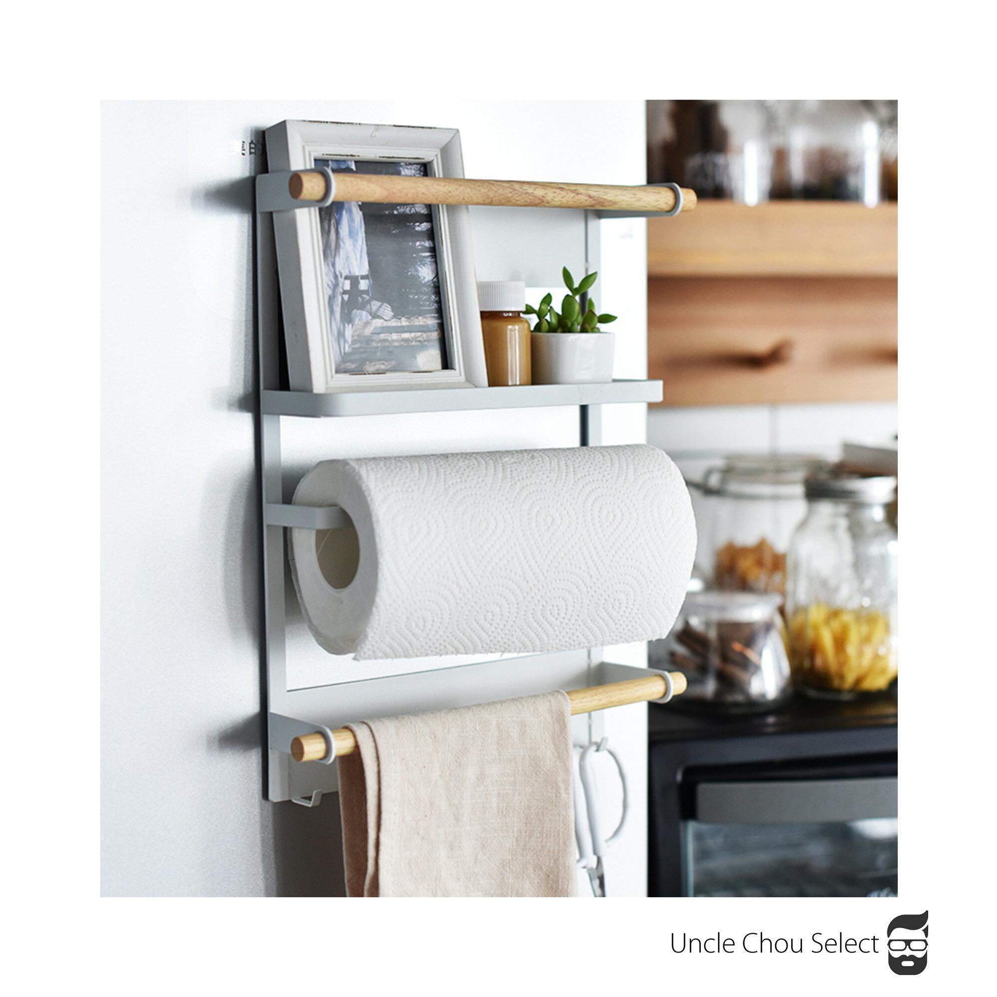 美式冰箱架 磁鐵收納置物架 餐巾紙架磁吸式紙巾架 北歐日本冰箱側掛架 zakka主婦禮物 免釘調味罐收納