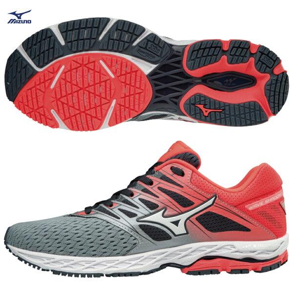 J1GD183002(灰X銀X粉橘)WAVESHADOW2一般型女款慢跑鞋【美津濃MIZUNO】