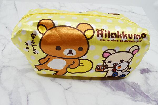 X射線【C212428】懶熊Rilakkuma 公主化妝包-鴨鴨,鉛筆盒  筆盒  筆袋  筆筒  文具  收納