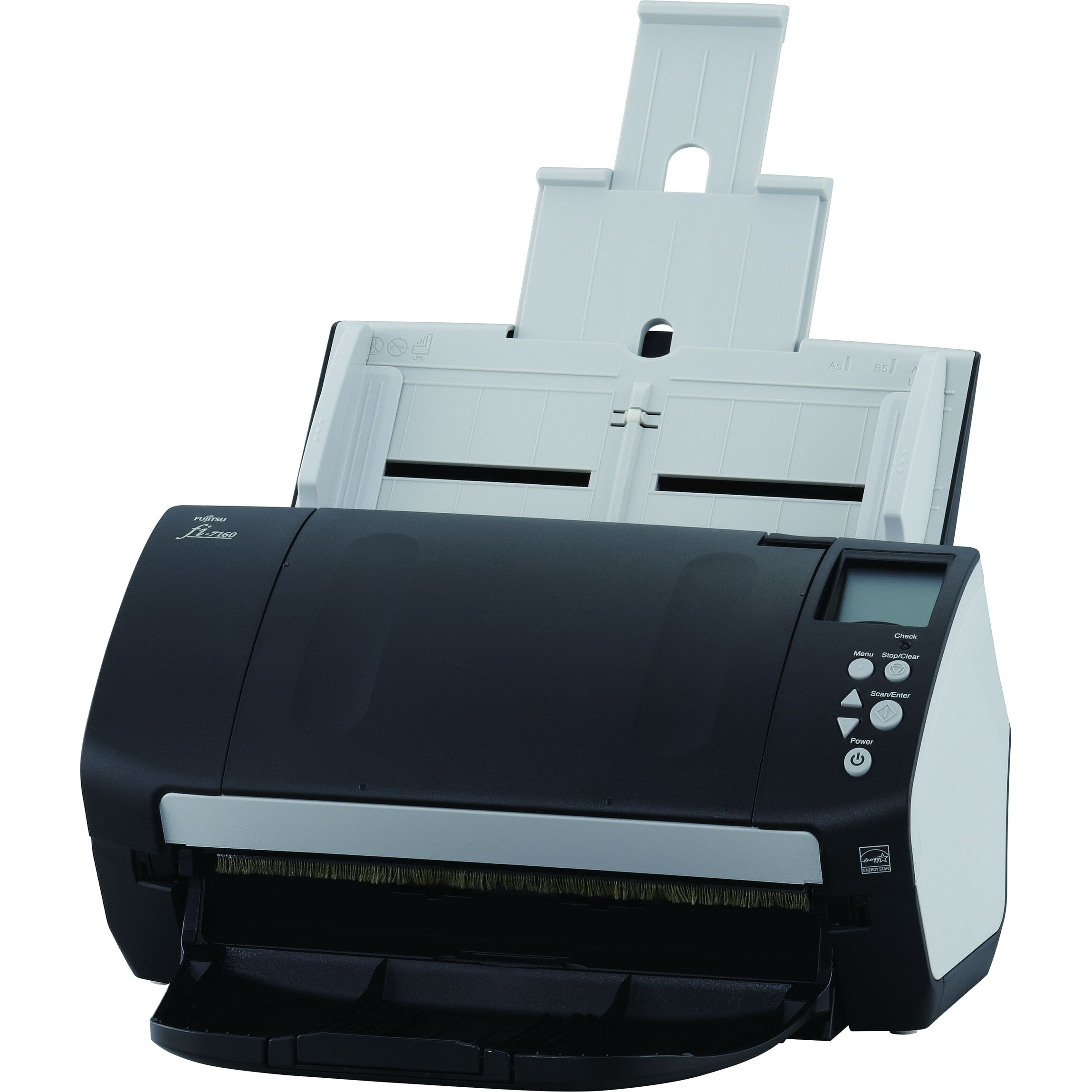 Fujitsu Fi-7160 Sheetfed Scanner - 600 dpi Optical - 24-bit Color - 8-bit Grayscale - 60 ppm (Mono) - 60 ppm (Color) - USB 0