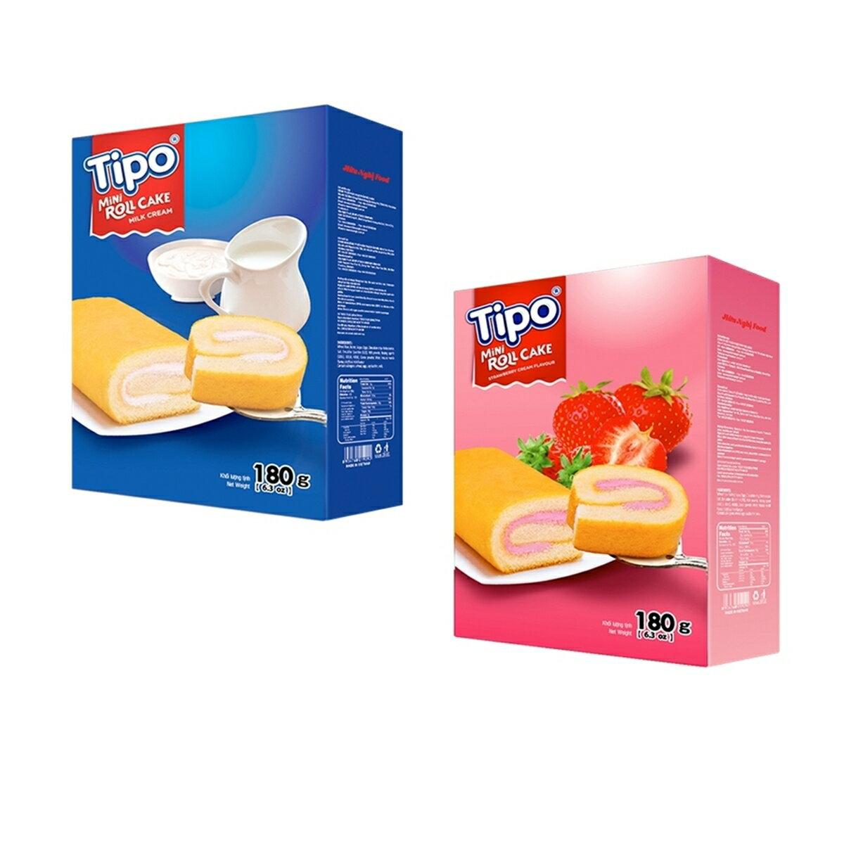 越南 TIPO 瑞士捲 牛奶口味 草莓口味 80g [928福利社]全館299免運