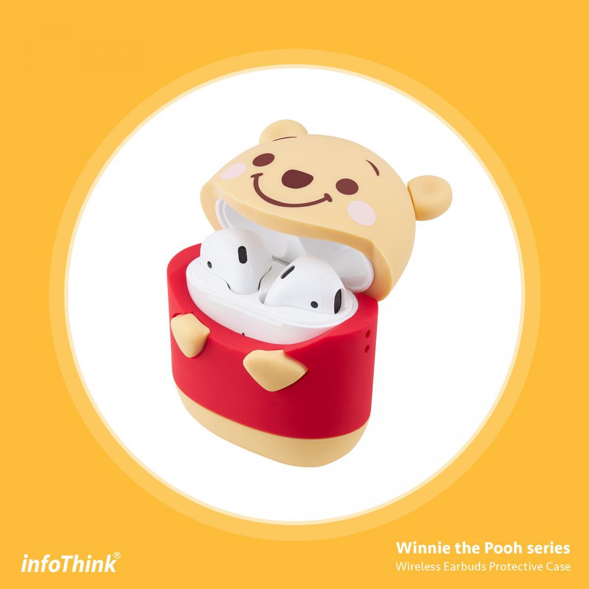 Disney迪士尼  AirPods 小熊維尼無線耳機造型保護套 iphone無線耳機 適用1、2代 Winnie the Pooh正版3C