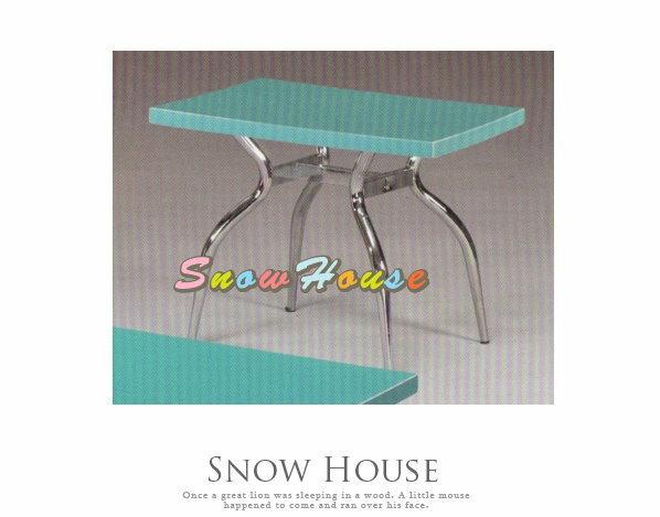 ╭☆雪之屋居家生活館☆╯A386-10 電鍍腳歐風小茶几/餐桌/茶桌/咖啡桌/置物桌**綠色面
