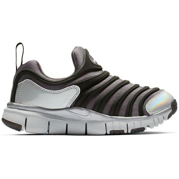 Shoestw【BQ7105-001】NIKE DYNAMO FREE 童鞋 毛毛蟲 中童鞋 黑灰銀 可凹折 1