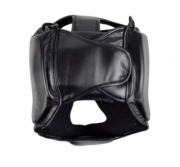 Headgear Head Guard Training Helmet Kick Boxing Protect Gear Black 3