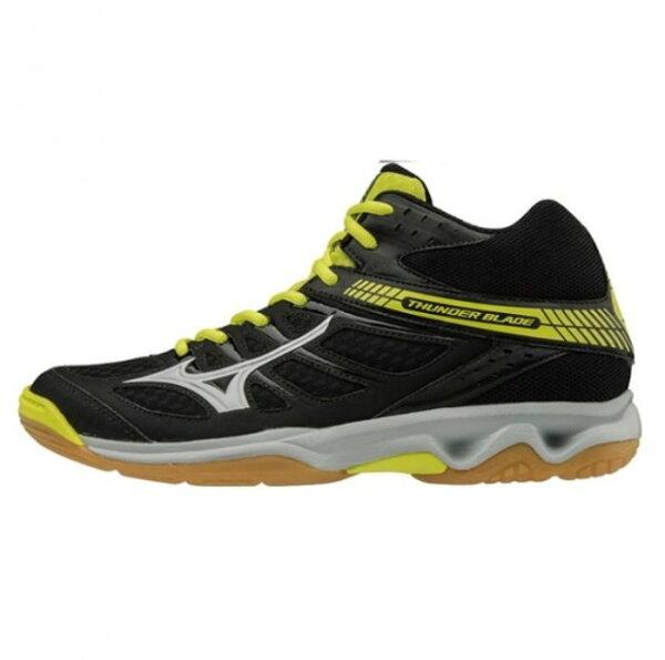 美津濃MIZUNO男排球鞋HUNDERBLADEMID(黑黃)中筒排球鞋V1GA187503【胖媛的店】