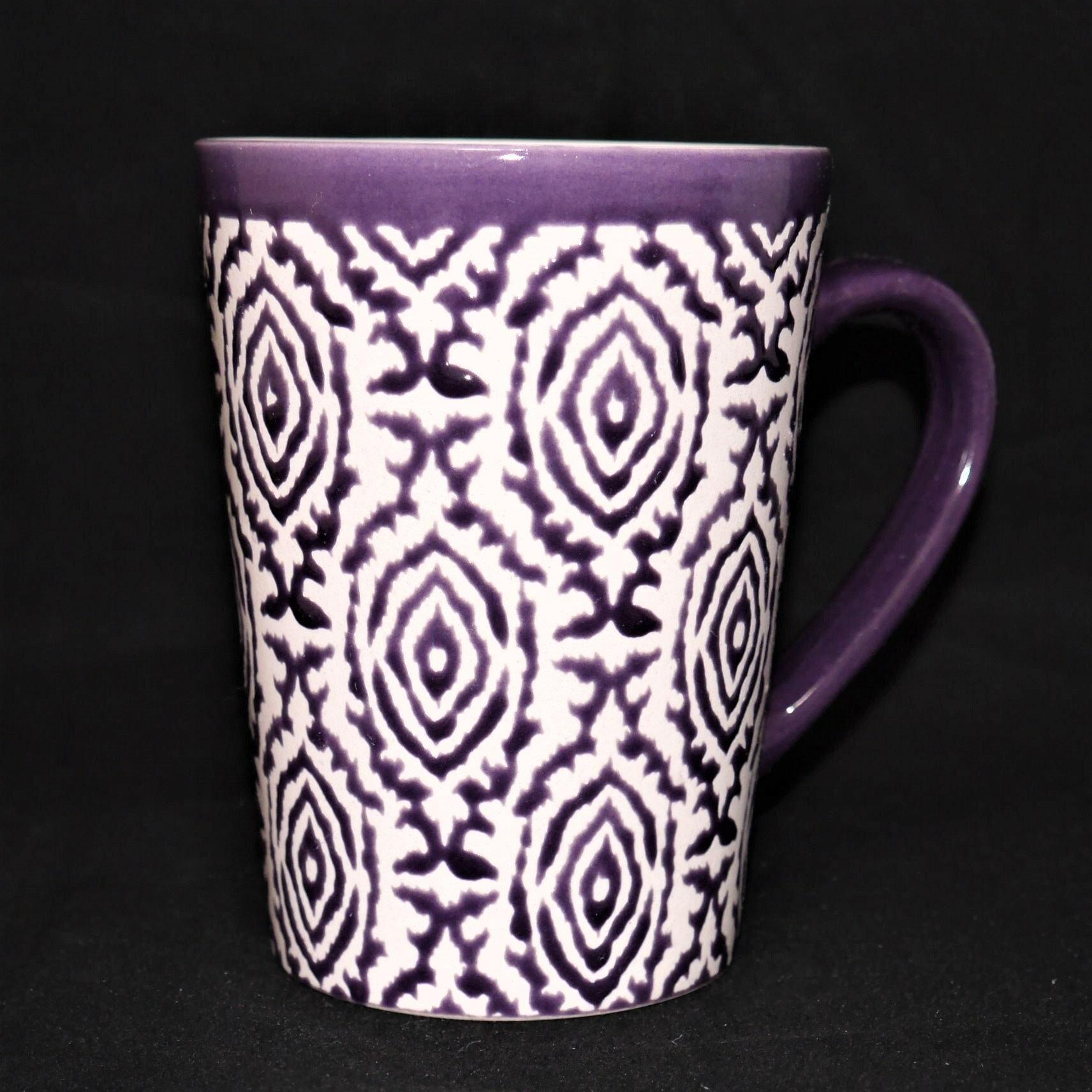 馬克杯紫色幾何紋500ml【曉風】 0