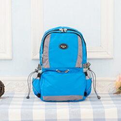 【Roberta Juden】小背包背開拉鍊 輕量防潑水布料(R701-水藍)【威奇包仔通】
