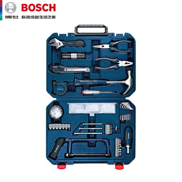 博世多功能家用維修五金工具套裝收納盒木工工具箱工具盒108件套