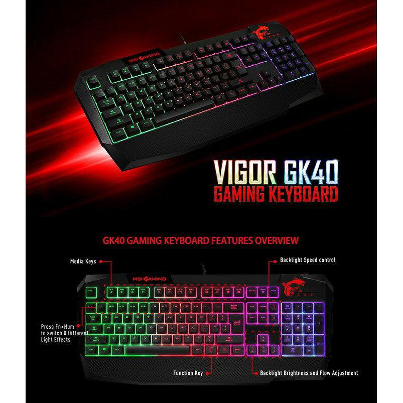 MSI 微星 Vigor GK40 TC RGB 類機械式電競鍵盤 PCHot 3