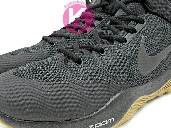 2016 中價位籃球鞋款 NIKE ZOOM REV EP 全黑 膠底 HYPERFUSE 鞋面科技 + ZOOM AIR 氣墊 XDR 耐磨橡膠外底 輕量化 籃球鞋 (852423-010) 0117 2
