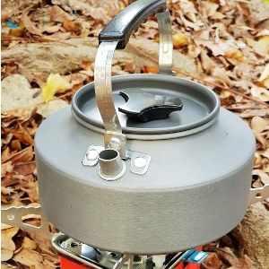 美麗大街【107011805】野外茶壺野營鋁合金1.1L咖啡壺便攜開水壺