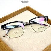 配眼鏡 方形黑眉框特色腳架【NYA66】