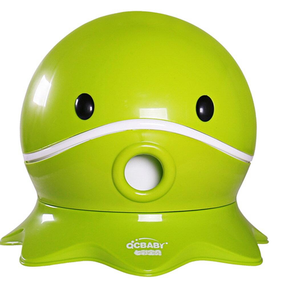 寶貝樂 可愛章魚幼兒馬桶學便器-綠色(BTOT18G) - 限時優惠好康折扣