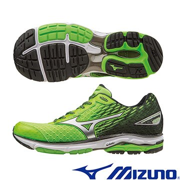 J1GC160308(綠X銀X黑)慢跑鞋的代名詞 WAVE RIDER 19 男慢跑鞋 A【美津濃MIZUNO】