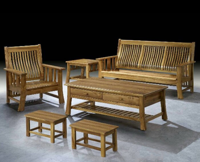 【 尚品傢俱】601-32 簡約 現代柚木組椅(1+2+3+大小茶几)家庭沙發/客廳沙發/會客沙發/多件沙發