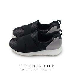 Free Shop 韓系亮片感繃帶休閒鞋 百搭好穿柔軟Q彈舒適透氣 (R22) 台灣製【QSH0639】