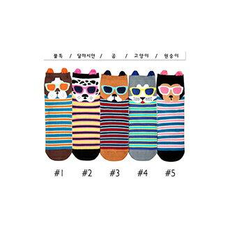 韓國貓咪造型短襪-多款任選 (SOCK-028-C)